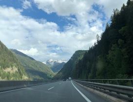 cesta přes Rakousko
